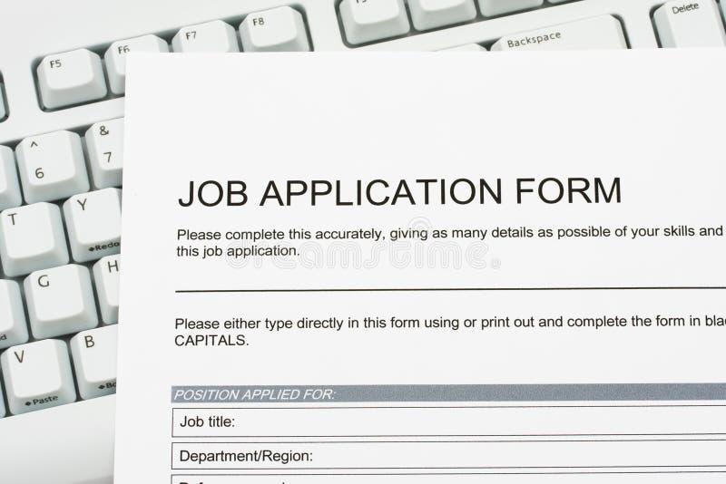 Applicazione di job fotografia stock
