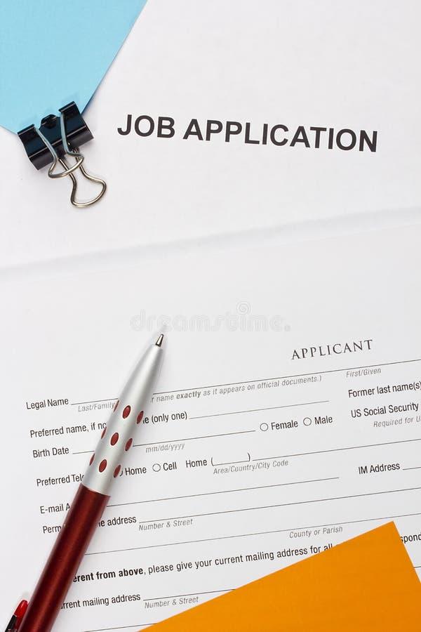 Applicazione di lavoro immagine stock libera da diritti