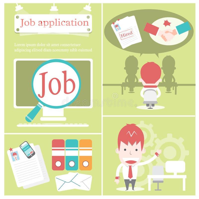 Applicazione di lavoro illustrazione di stock
