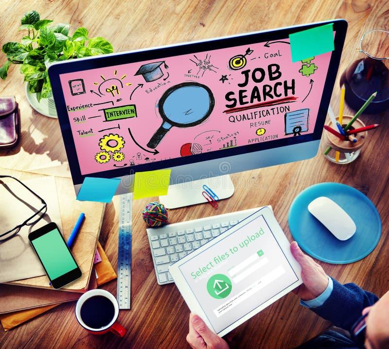 Applicazione di noleggio C di Job Search Qualification Resume Recruitment immagine stock