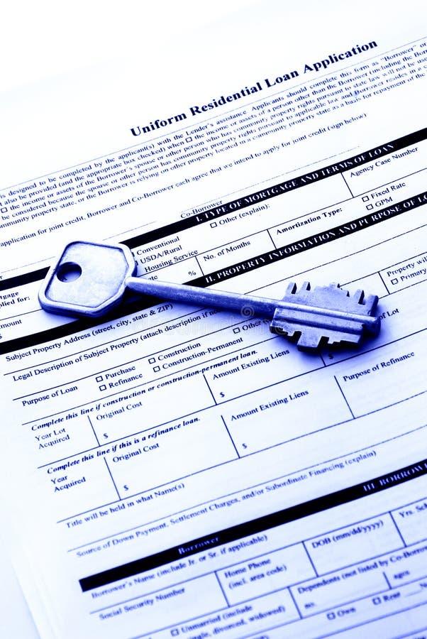 Applicazione di prestiti immobiliari fotografia stock