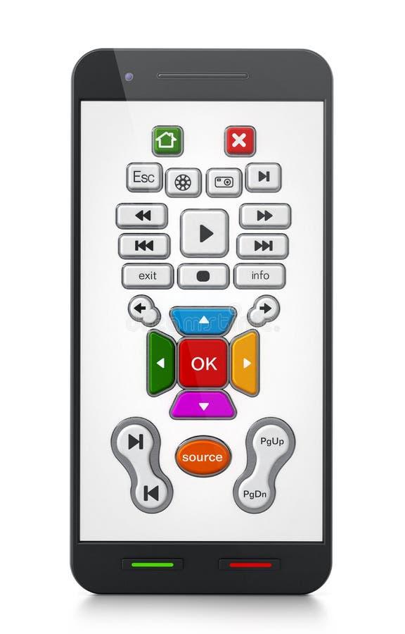 Applicazione a distanza astuta del regolatore sullo schermo dello smartphone royalty illustrazione gratis