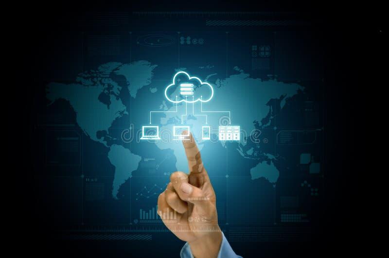 Applicazione ed ospitalità di server della nuvola di Internet immagini stock