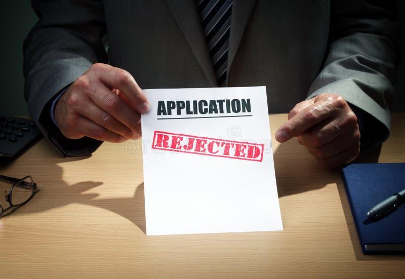 Applicazione rifiutata immagine stock libera da diritti