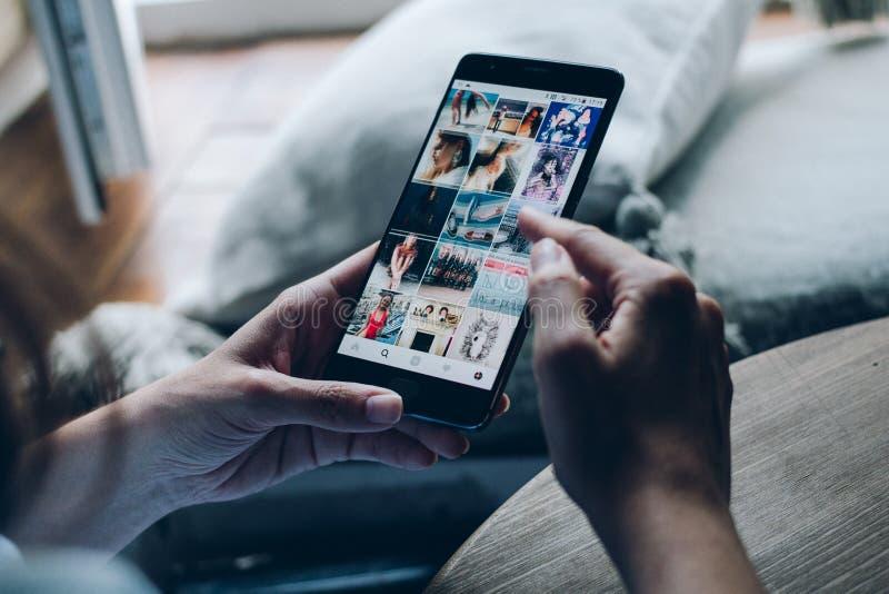 Applicazione sociale di media immagine stock