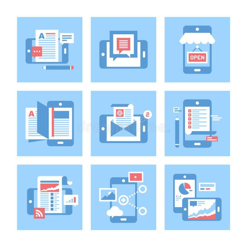 Applicazioni mobili illustrazione di stock