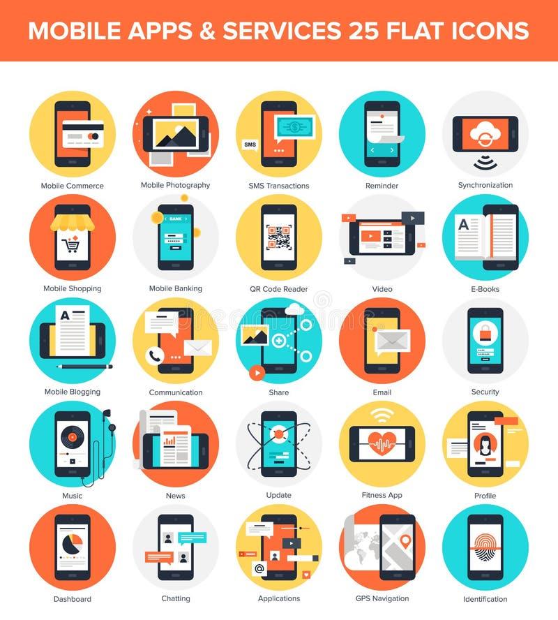 Applicazioni mobili royalty illustrazione gratis