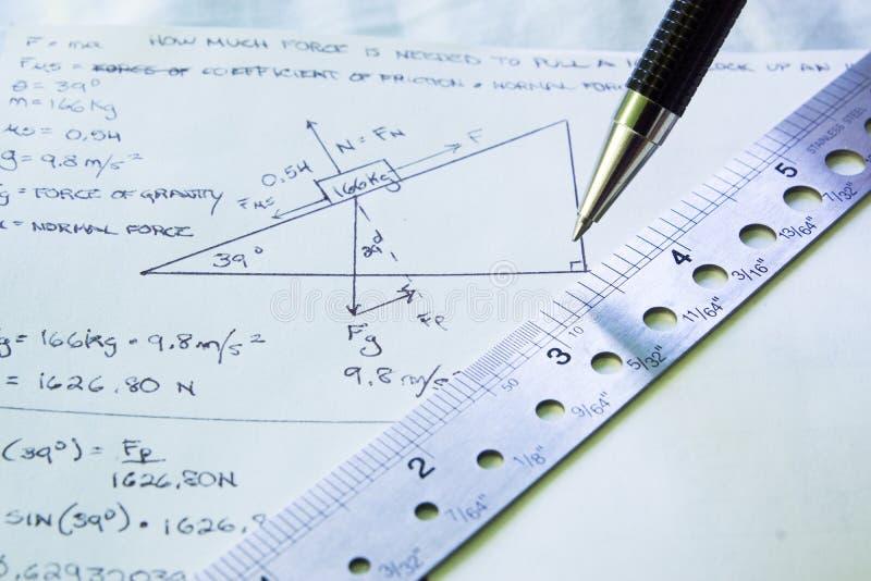 Download Applicera Fysik Till Problemet Arkivfoto - Bild av diagram, penna: 27278808