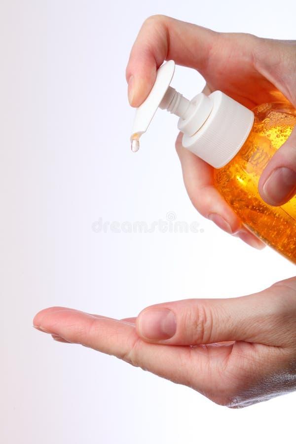 applicera tvätt för handvätsketvål royaltyfri bild