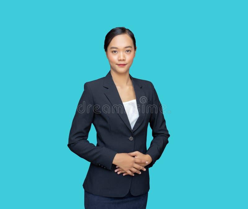applicerar den smarta asiatiska affärskvinnan för artig personlighet för jobb royaltyfri bild