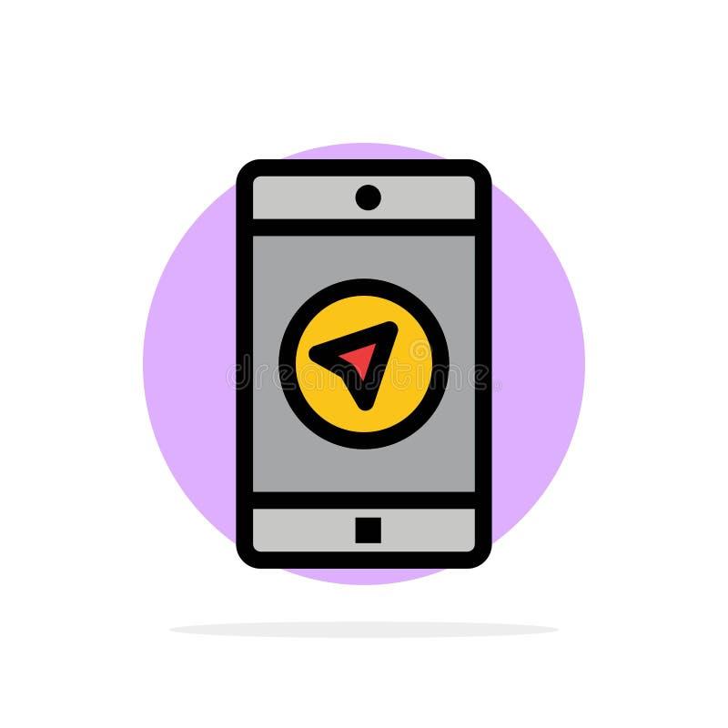 Applikation meddelande, mobila Apps, för abstrakt symbol för färg cirkelbakgrund för poniter plan vektor illustrationer