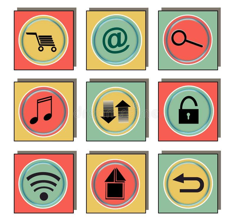 Applikationsymbol stock illustrationer