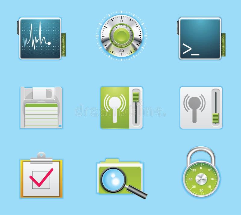 applikationsymbolsservice royaltyfri illustrationer