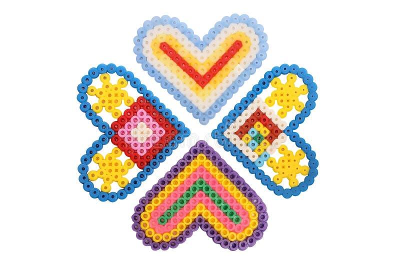 Applique 4 сердец изолированных на белизне стоковая фотография rf