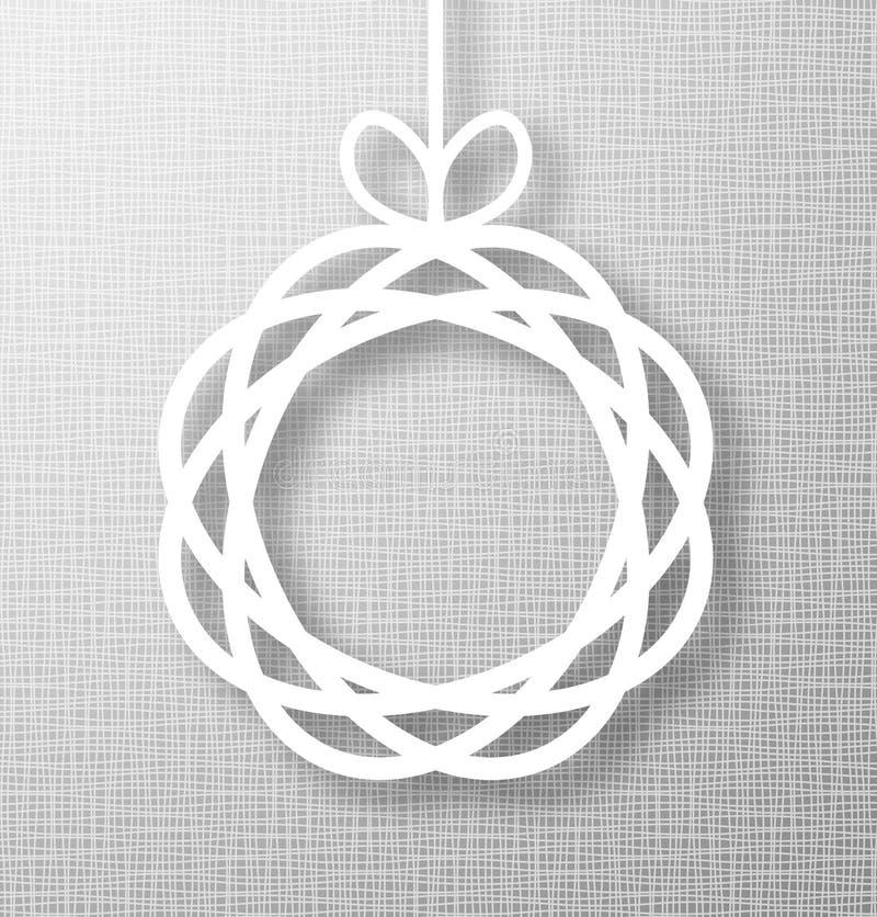 Applique abstrait de papier de cercle sur Gray Background illustration de vecteur