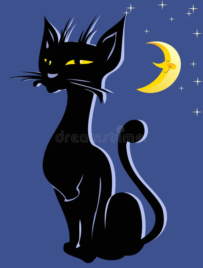 Download Applique with a black cat stock vector. Image of silhouette - 27568239