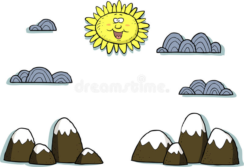 Applique landscape stock illustration