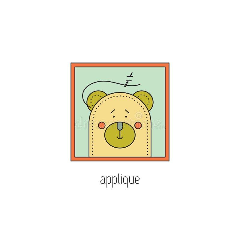 Applique line icon royalty free illustration
