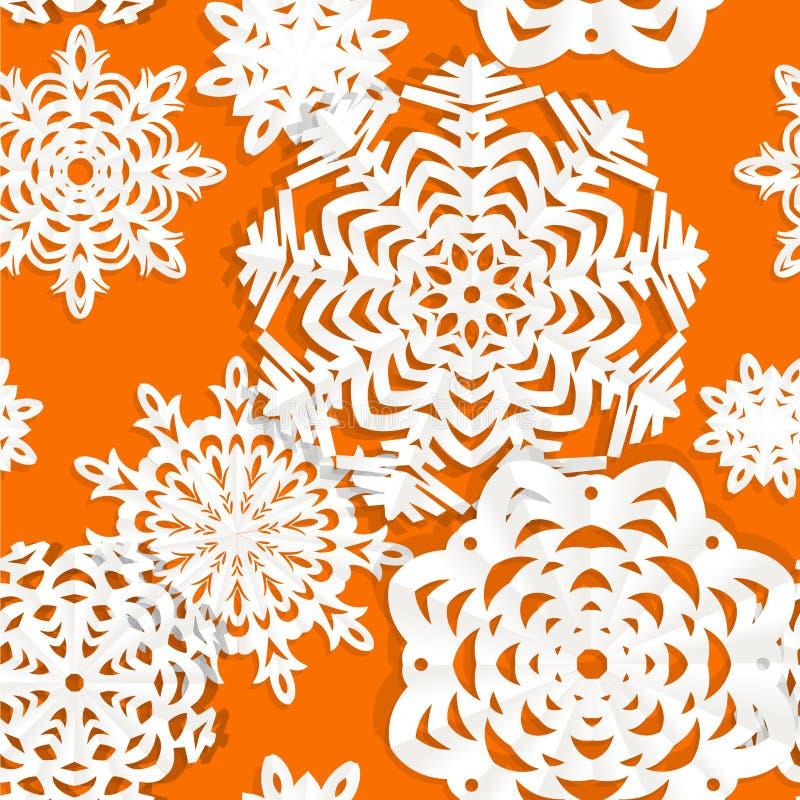 Applique snowflake Christmas seamless background royalty free stock photo