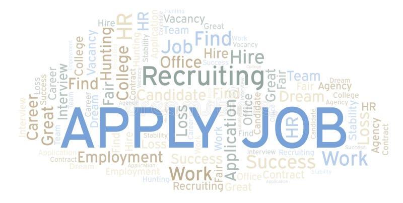 Apply Job word cloud. vector illustration