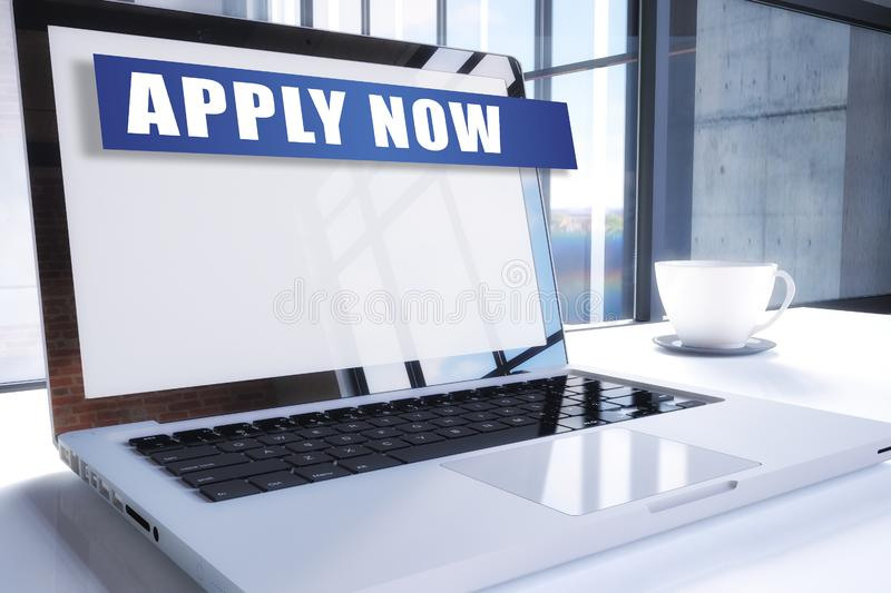 Apply now stock illustration