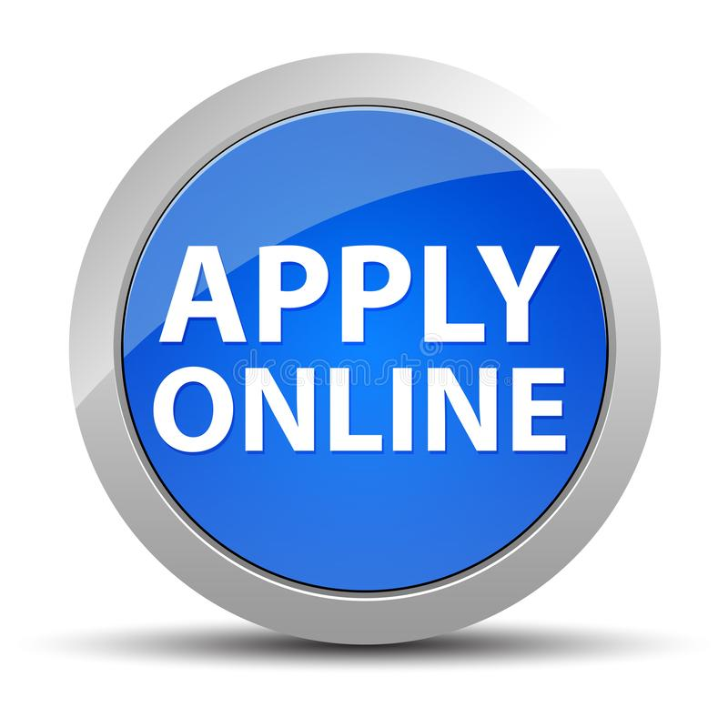 Apply Online blue round button royalty free illustration