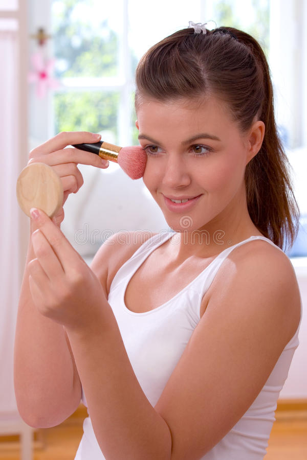 Download Applying blush stock photo. Image of human, brush, beauty - 10979338
