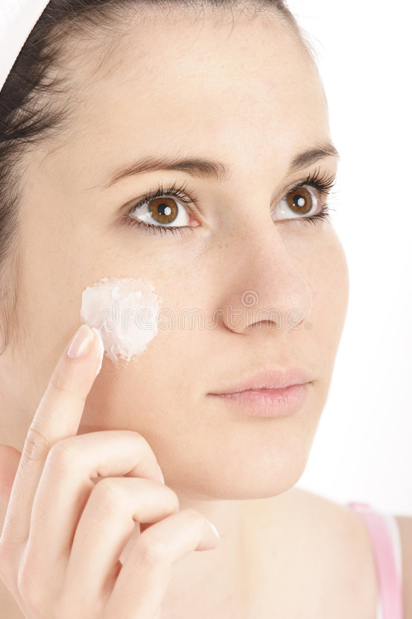 Download Applying cream stock image. Image of beauty, cosmetic - 2157357