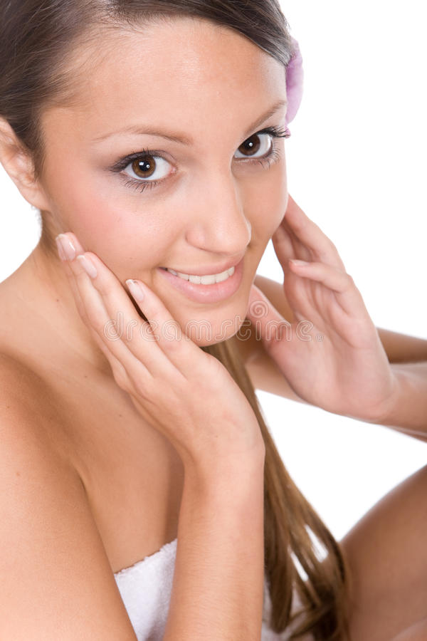 Download Applying cream stock image. Image of facial, beauty, apply - 9545389