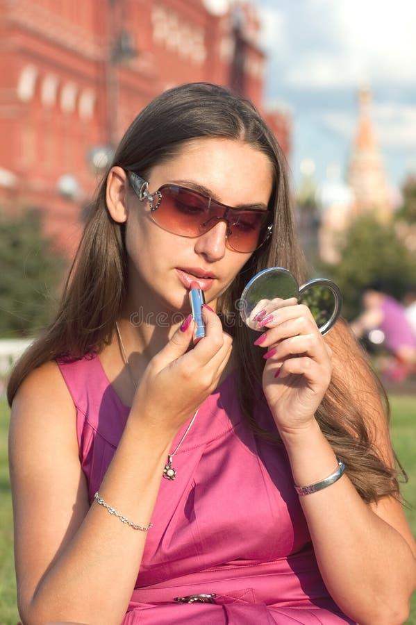 Free Applying Lipstick Royalty Free Stock Photo - 10618535
