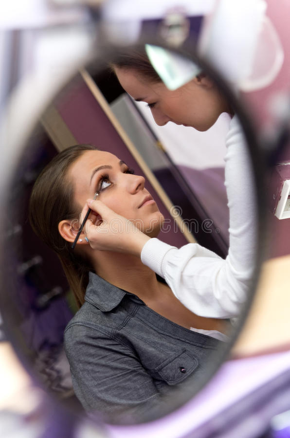 Download Applying makeup stock photo. Image of entertainment, product - 26962388