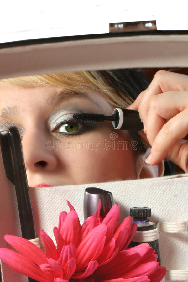 Download Applying mascara stock image. Image of eyelashes, application - 522529