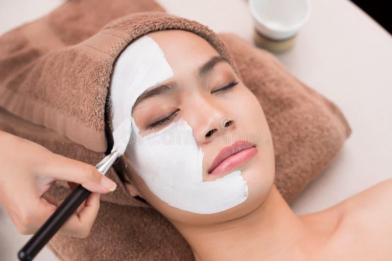 Applying mask royalty free stock photo