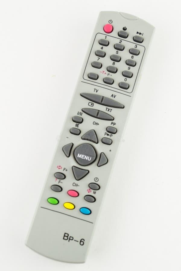 Appoggio a distanza del monitoraggio di accesso di controllo della TV isolato su fondo bianco fotografia stock