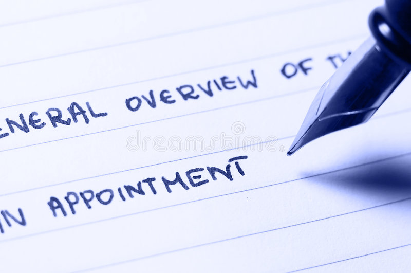 An appointment royalty free stock photo