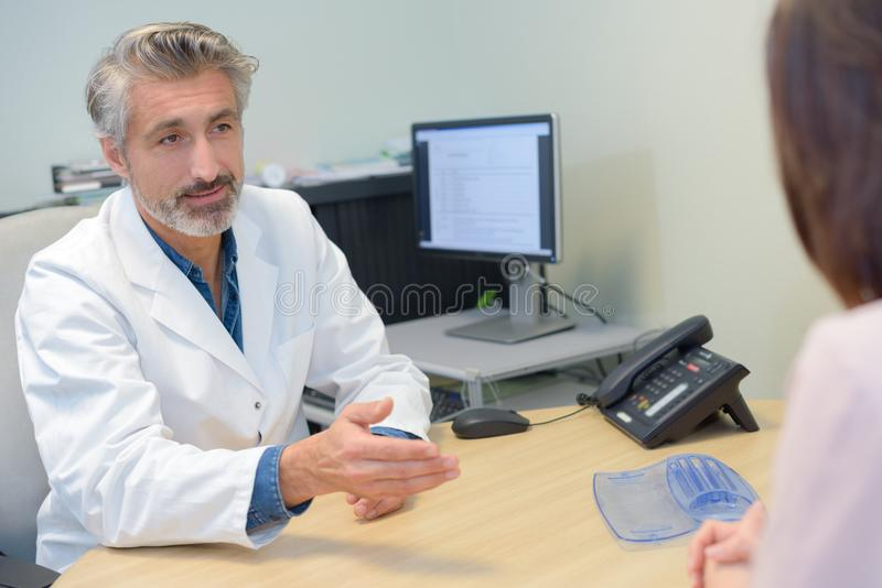 Appointment with the doctor. Consultation stock photography