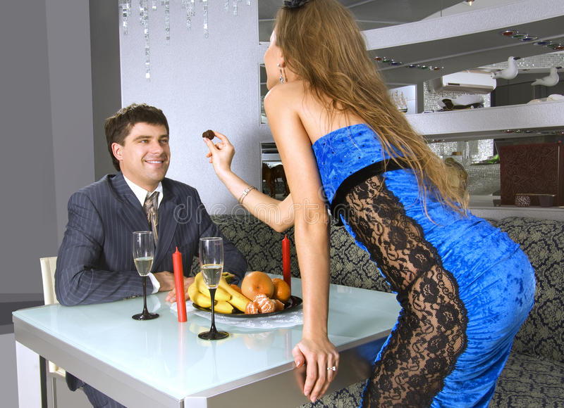 Appointment At Restaurant Royalty Free Stock Photography