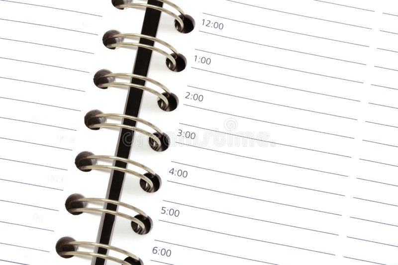 Daily appointments sheet royalty free stock images