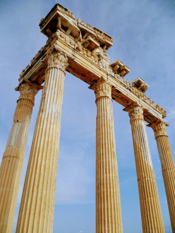 Appolo` s tempel stock afbeelding