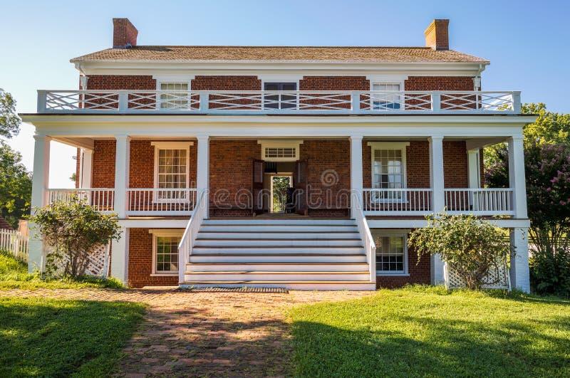 Appomattox法院国家公园的麦克莱恩议院 免版税库存照片