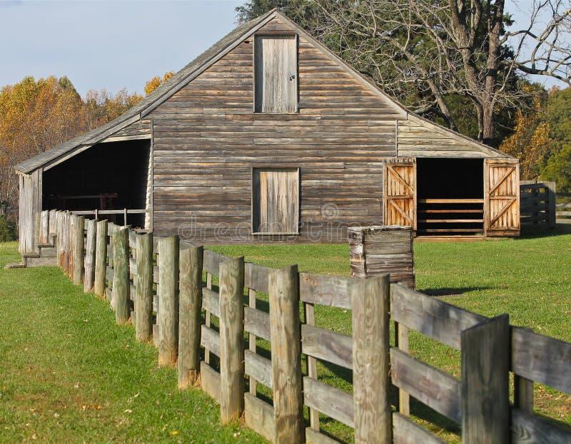 Appomattox的老谷仓,弗吉尼亚 库存照片