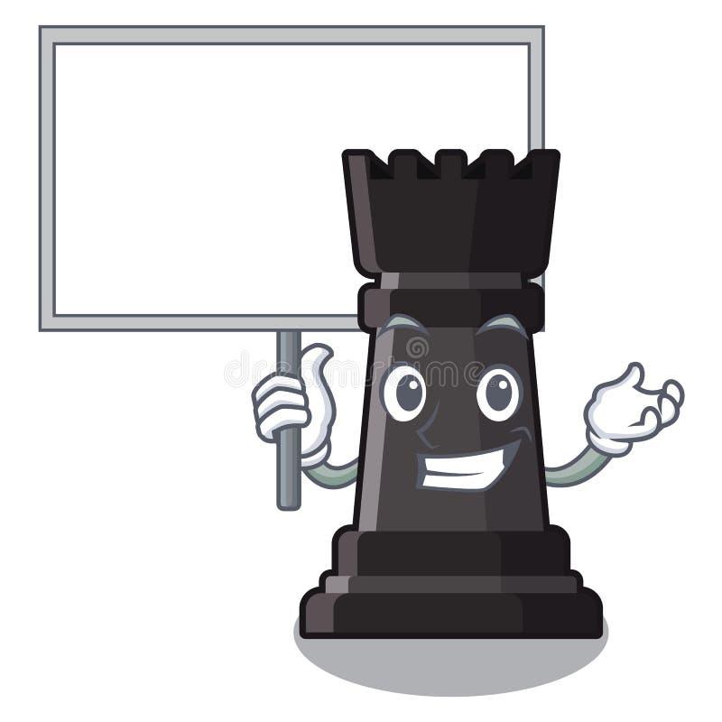 Apportez les jouets d'échecs de freux de conseil au-dessus de la table de bande dessinée illustration stock