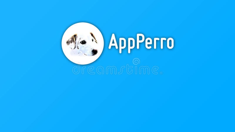 AppPerro App Company Logo Banner stockfotos