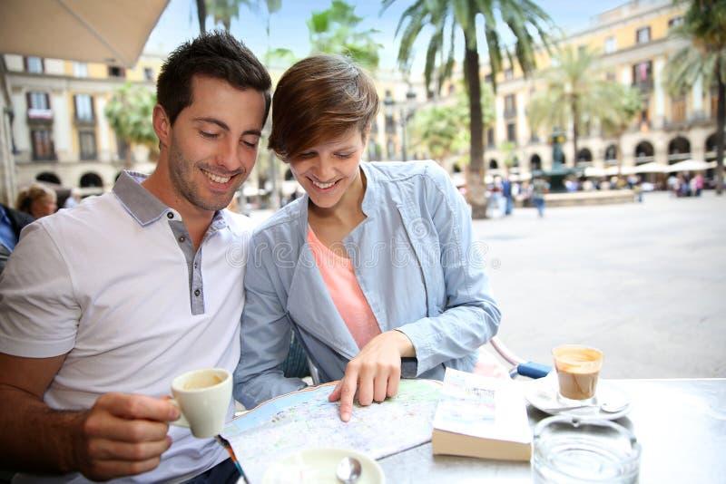 Apprécier des endroits de Barcelone image libre de droits