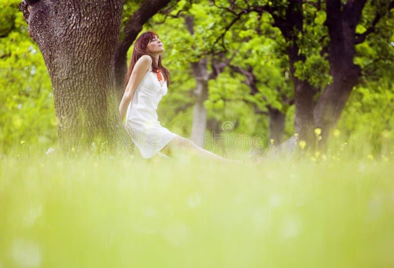 Apprécier l'été dans la forêt photographie stock libre de droits