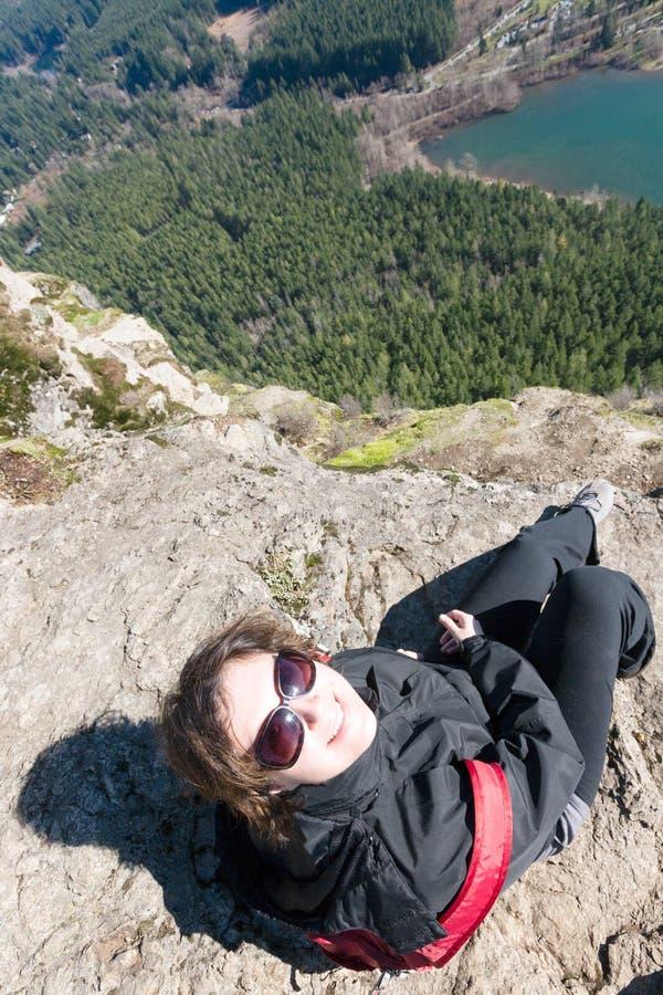 Apprécier la vue du serpent à sonnettes Ledge Trail photo stock