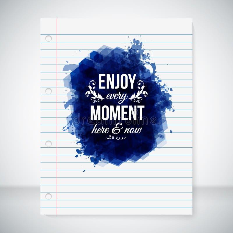 Appréciez chaque moment ici et maintenant. illustration stock