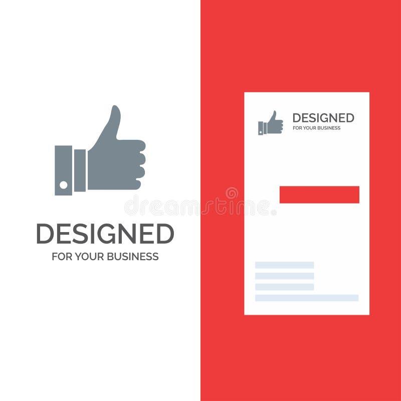 Appréciez, des remarques, bonnes, comme Grey Logo Design et le calibre de carte de visite professionnelle de visite illustration stock