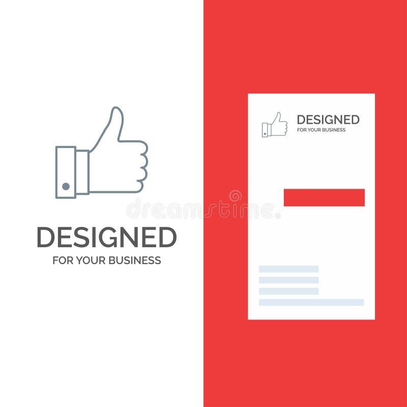 Appréciez, des remarques, bonnes, comme Grey Logo Design et le calibre de carte de visite professionnelle de visite illustration de vecteur