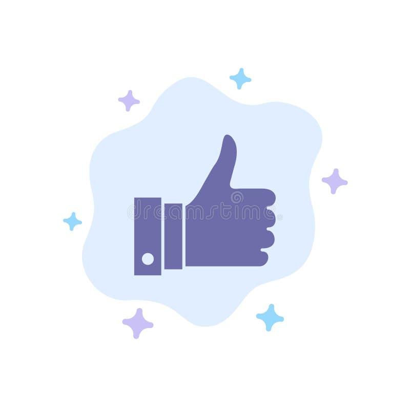 Appréciez, des remarques, bonnes, comme l'icône bleue sur le fond abstrait de nuage illustration libre de droits